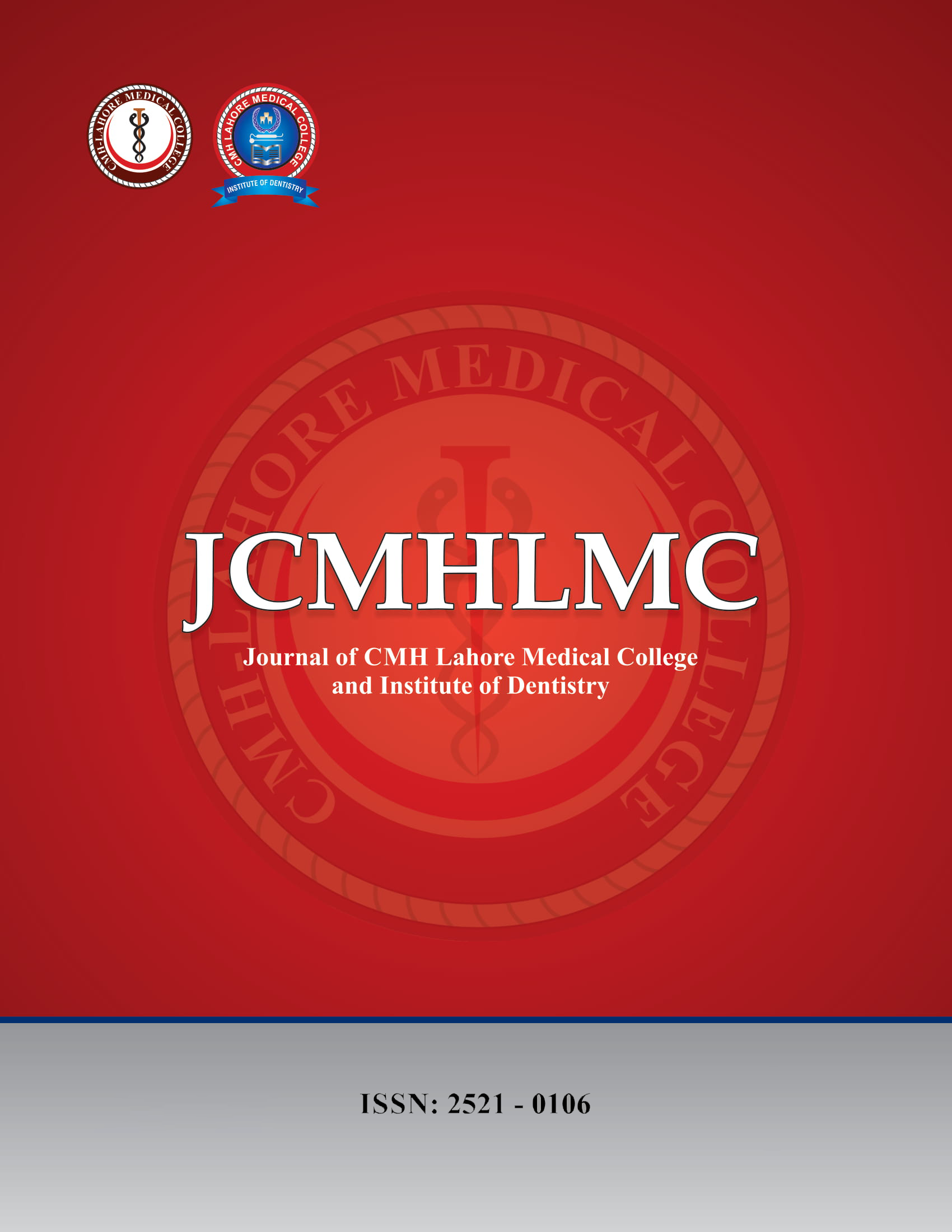 View Vol. 1 (2017): MedERA-Journal of CMH LMC and IOD